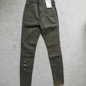 SO High-Rise Leopard Ultimate Ankle Jegging Size 1